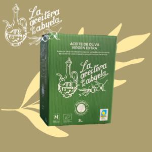 aceite de oliva ecológico 3L Bag in Box